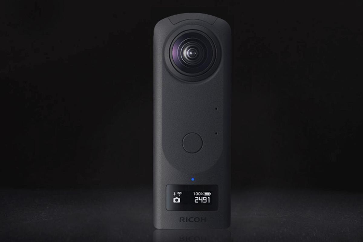 The Ricoh Theta Z1360° stills and video camera will go on sale towards the end of March, 2019