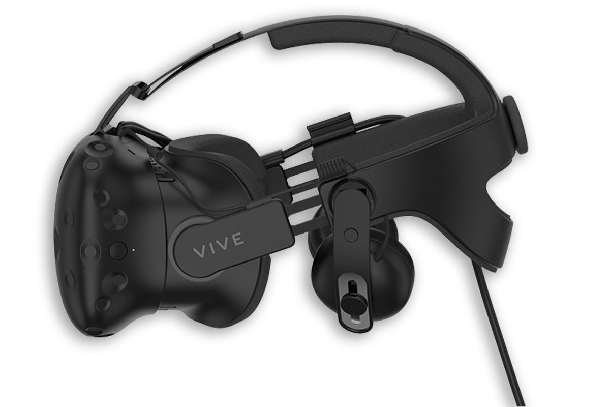 HTC's Deluxe Audio Strap adds integrated headphones (similar to those on the Oculus Rift) to the Vive VR headset