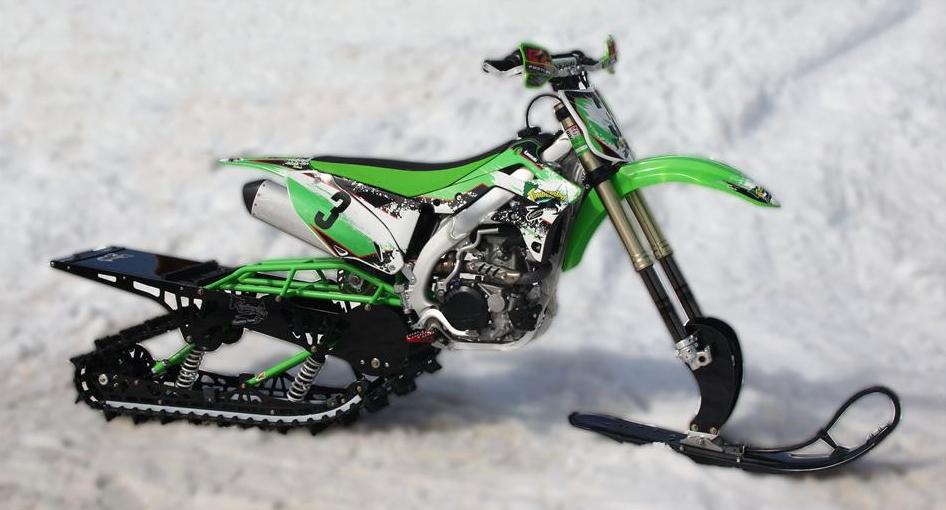 A Kawasaki KXF450 with the Mountain Horse Short Track kit