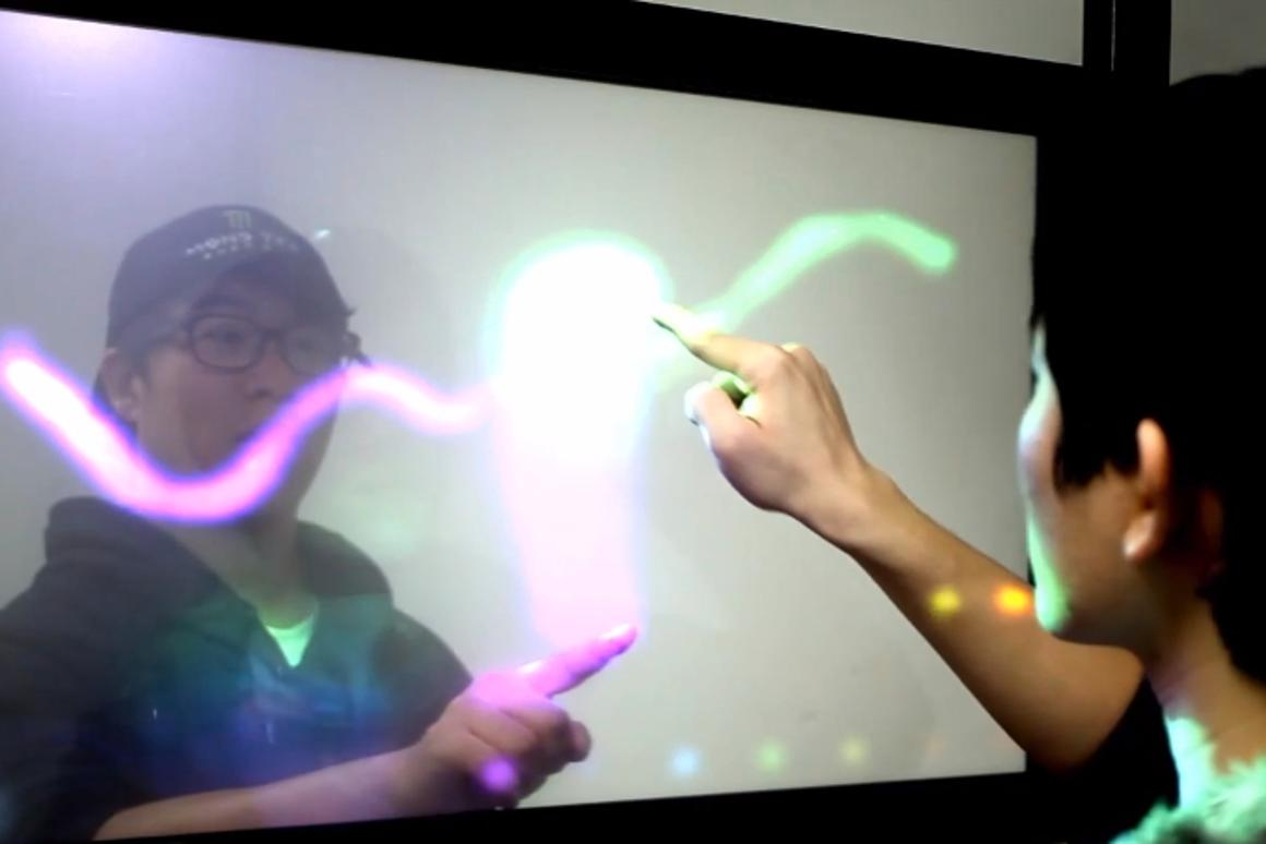 TransWall displays interactive content on both of its faces