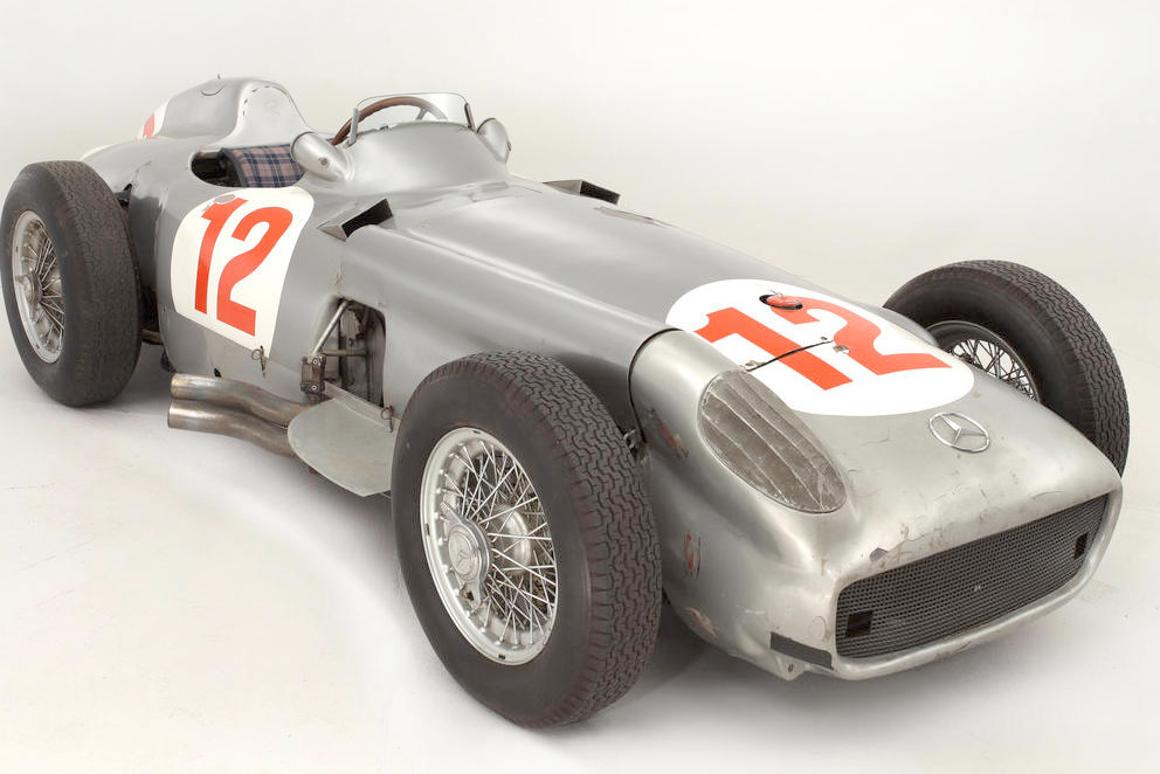 Fangio's 1954 Mercedes-Benz Silver Arrow becomes world's
