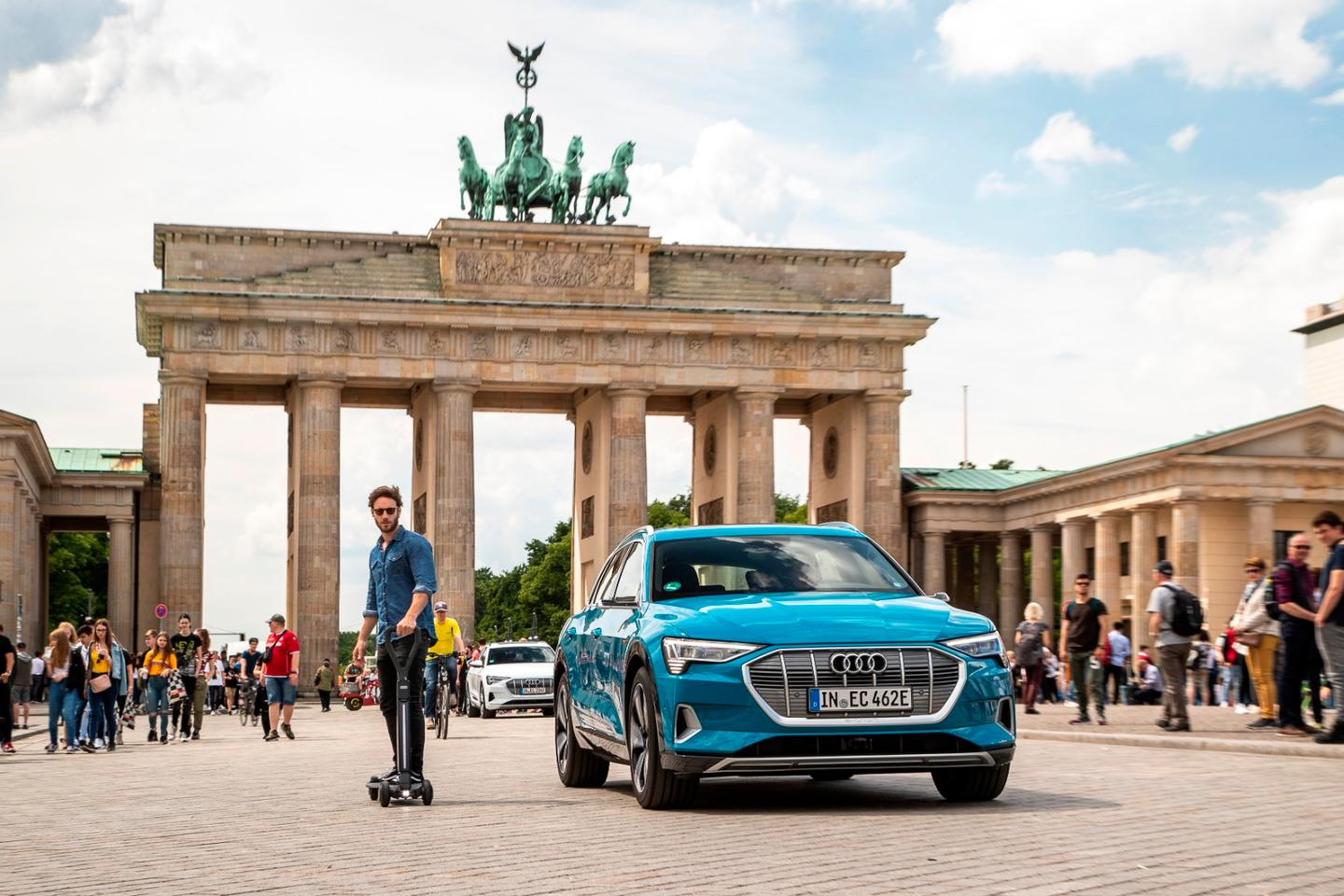 The Audi e-tron Scooter is due to go into production by the end of 2020