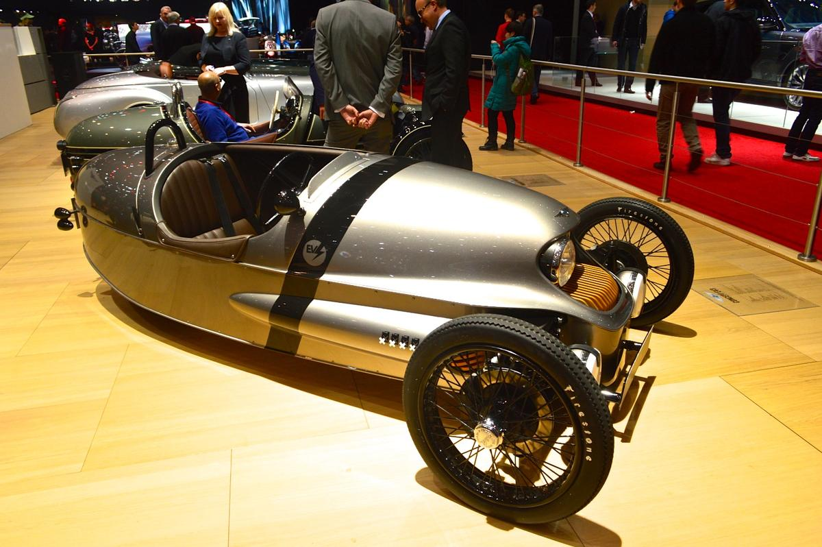 The Morgan EV3 at the 2016 Geneva Motor Show