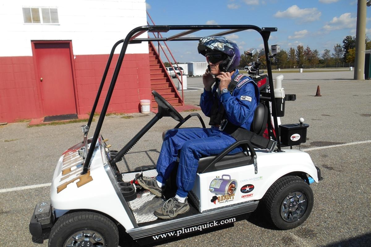 Plum Quick Motors claims to have set a new record for the world's fastest golf cart