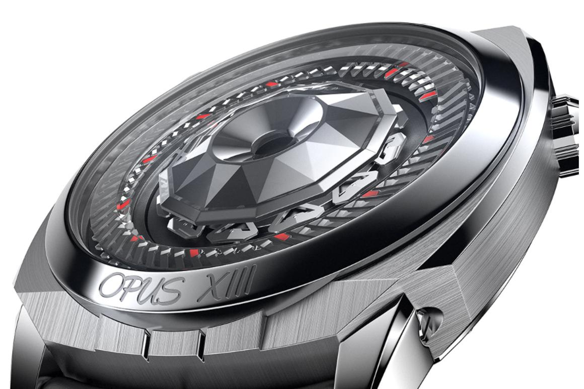 """The Harry Winston Opus XIII features 59 minute hands, 11 hour hands and a concealed """"HW"""""""