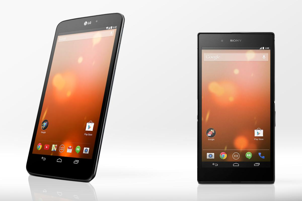 Google Play is now home to two more Google Play Edition devices, the LG G Pad 8.3 tablet and Sony's Z Ultra phablet