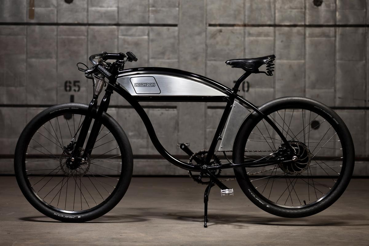 Derringer offers three bikes starting at $3,500 for a 37 V version, and going up to $6,500 for the faster, more customizable 63 V model