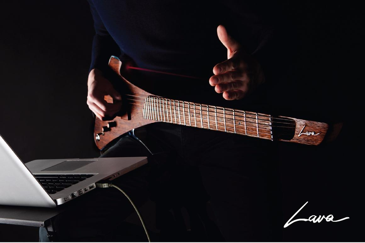 Aplayer can alter tones or pitch, or fire MIDI sounds, by moving a hand in front of a laser positioned to the top and back of the instrument