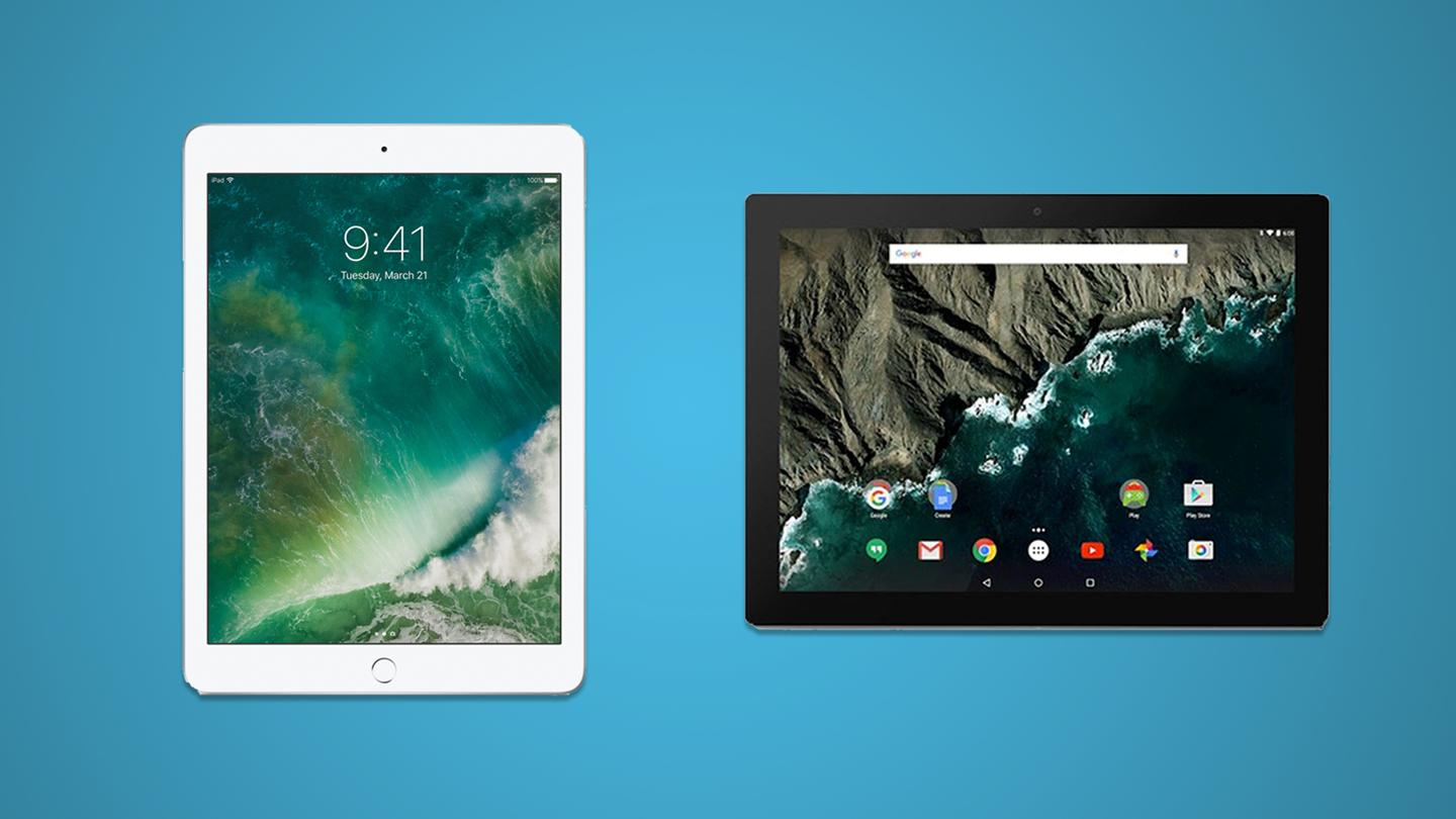 How does the newest, cheapest iPad compare to the priceyAndroid-runningGoogle Pixel C?