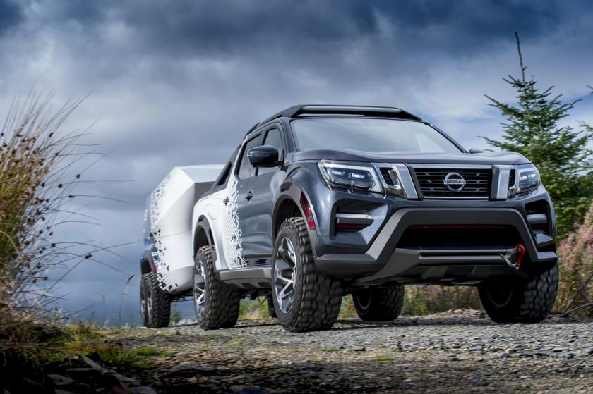Nissan's rugged truck/trailer concept tows high-powered