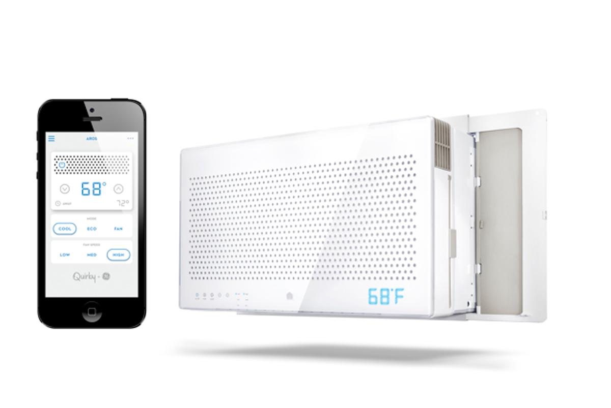 The Aros air conditioner works with the WINK app