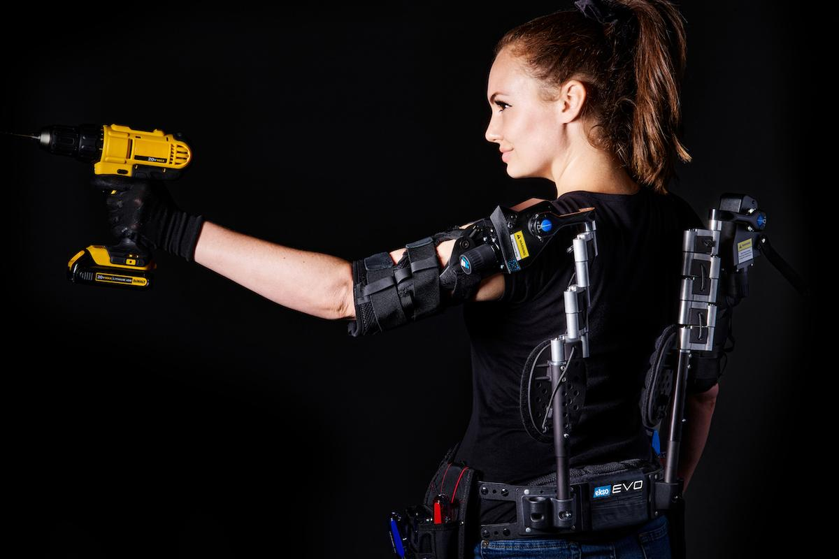 Like its predecessor, the Evo Upper Body Exoskeleton provides up to 15 lb of support to each arm