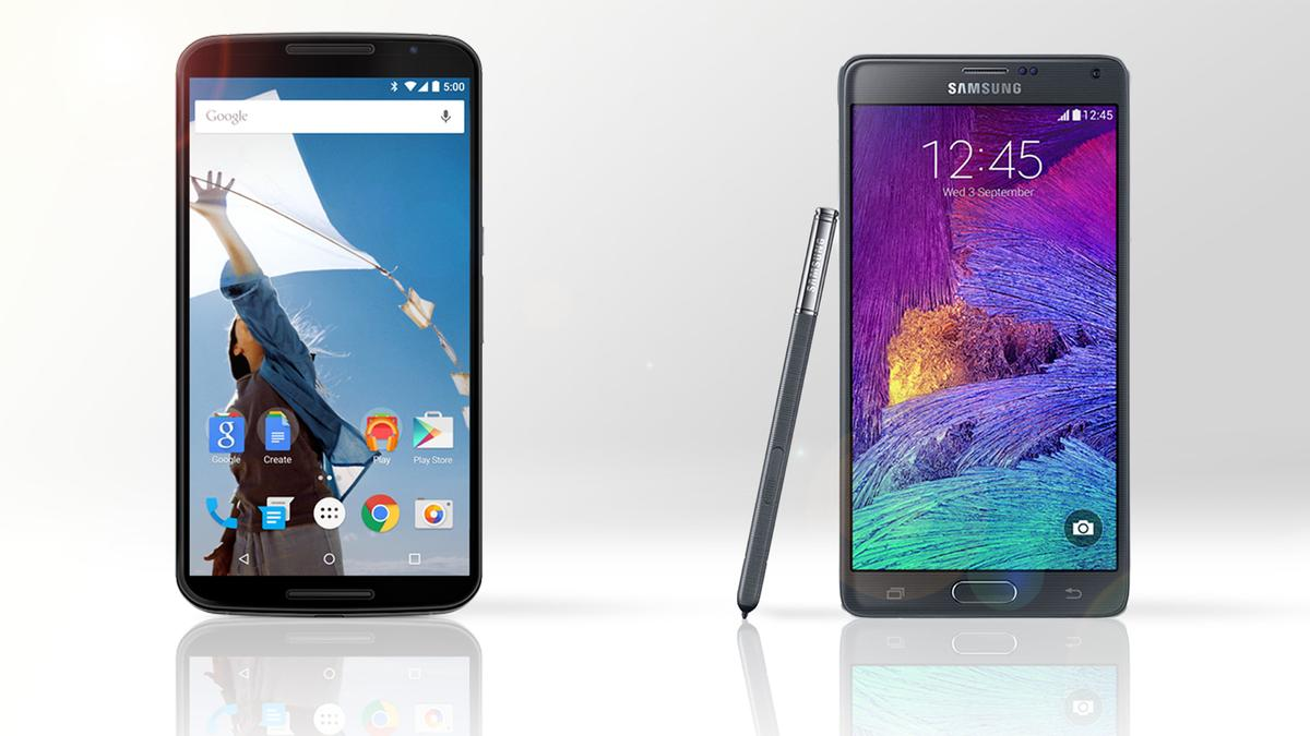 Gizmag compares the features and specs of the Motorola/Google Nexus 6 (left) and the Samsung Galaxy Note 4