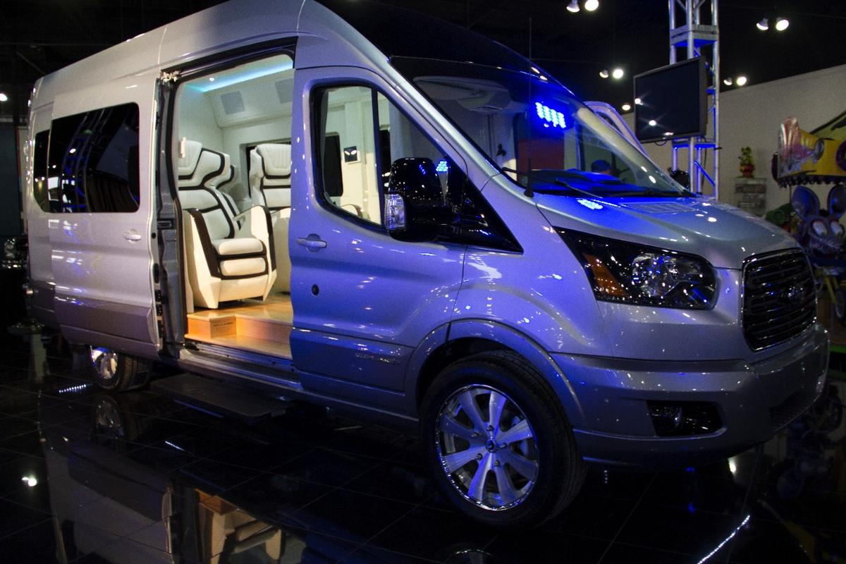 Ford has unveiled the Transit Skyliner Concept luxury van