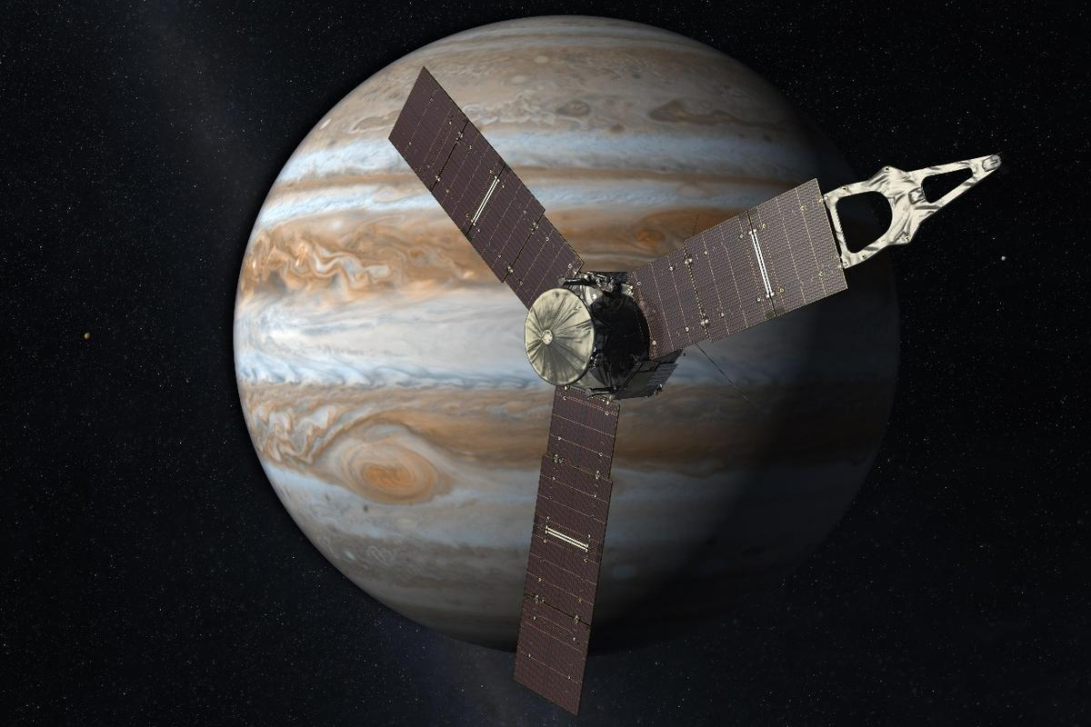 Artists impression of the Juno spacecraft