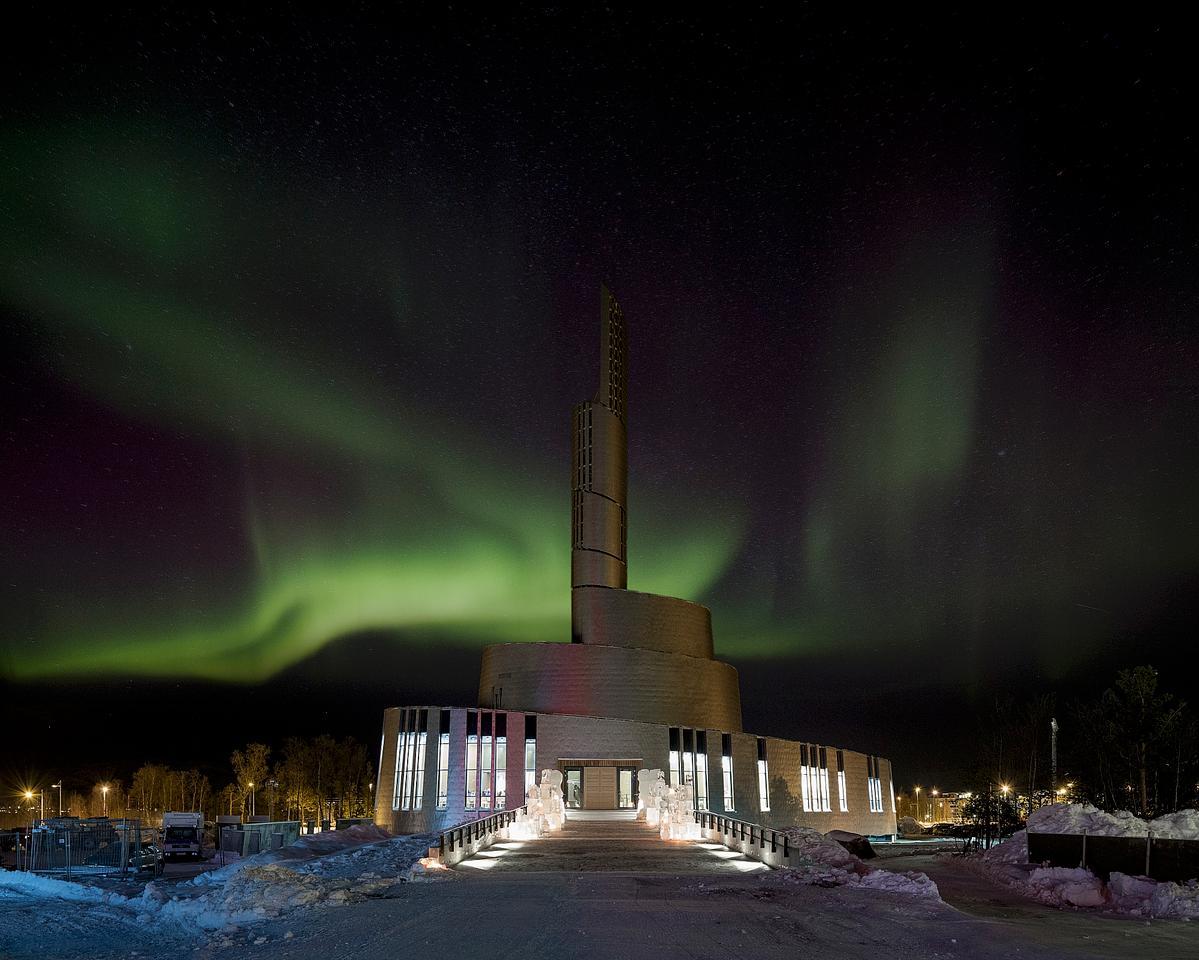 The titanium-clad Cathedral of the Northern Lights (Photo: Adam Mørk/schmidt hammer lassen)