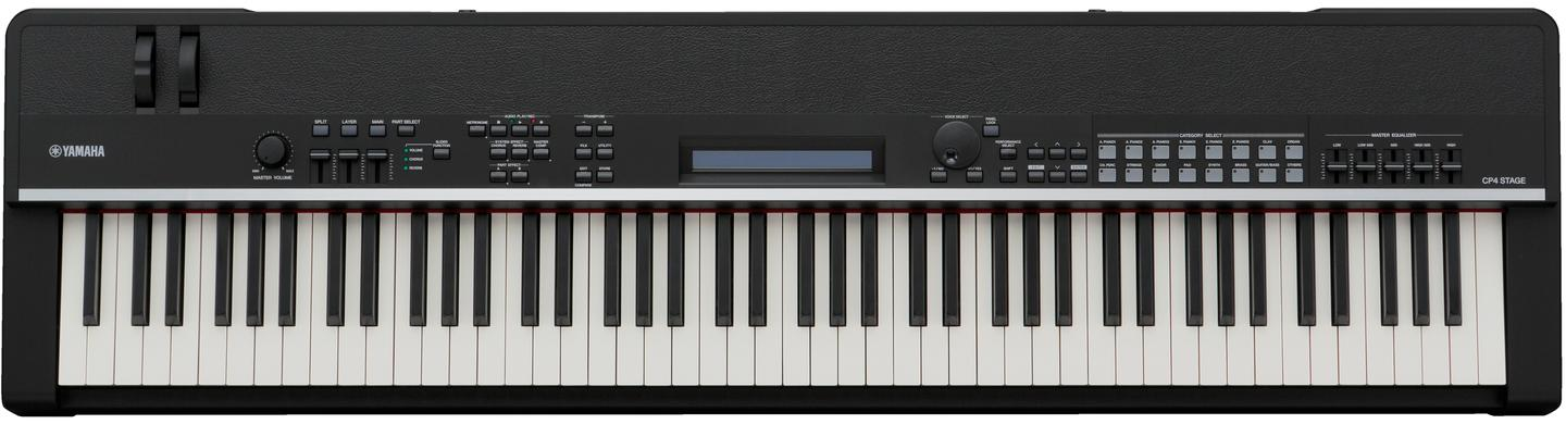 Between the keyboard and the leather-like finish of the CP4 Stage's outer shell, a user interface runs the length of the piano's 88 keys