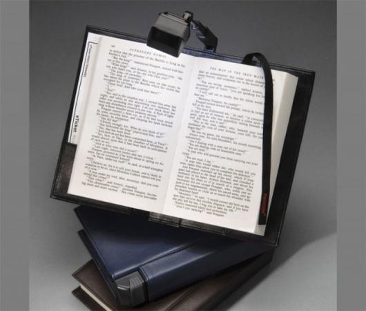 Periscope LED Book Light in a Bookcover