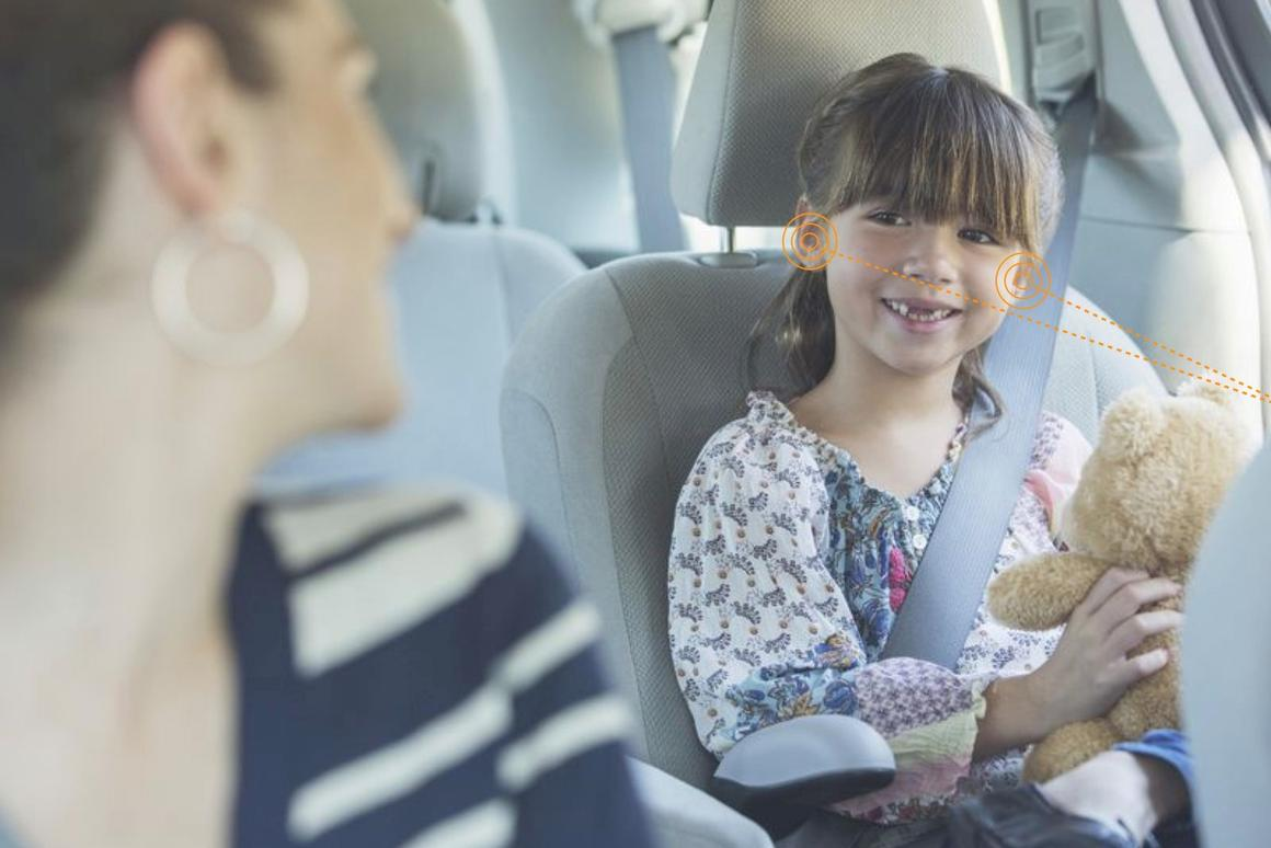 Kids in the back will be able to listen to their favorite music without disturbing parents up front if the Seat/Noveto demonstration is successful