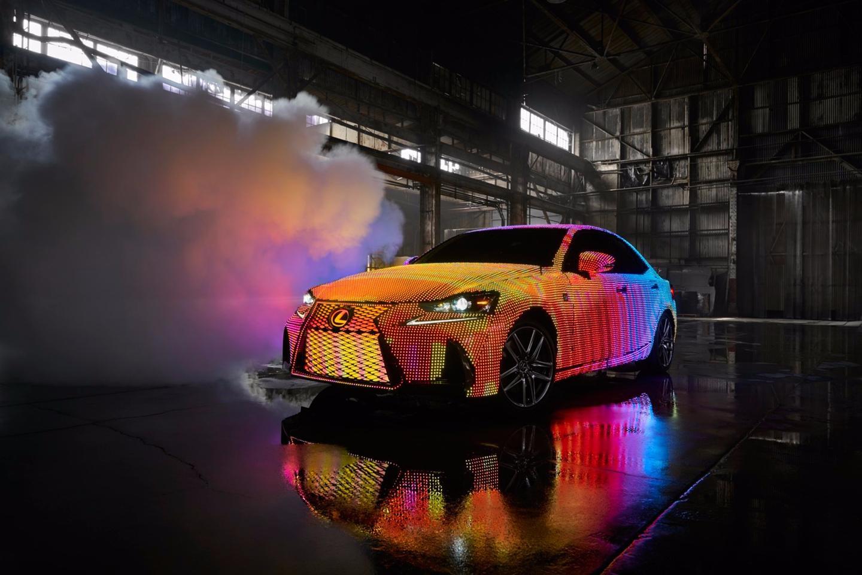 The Lexus LIT IS produces 150,000 lumens at full illumination