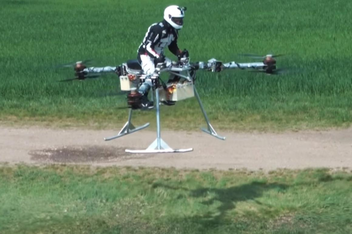 The Flike concept demonstrator in a controlled flight in Hungary
