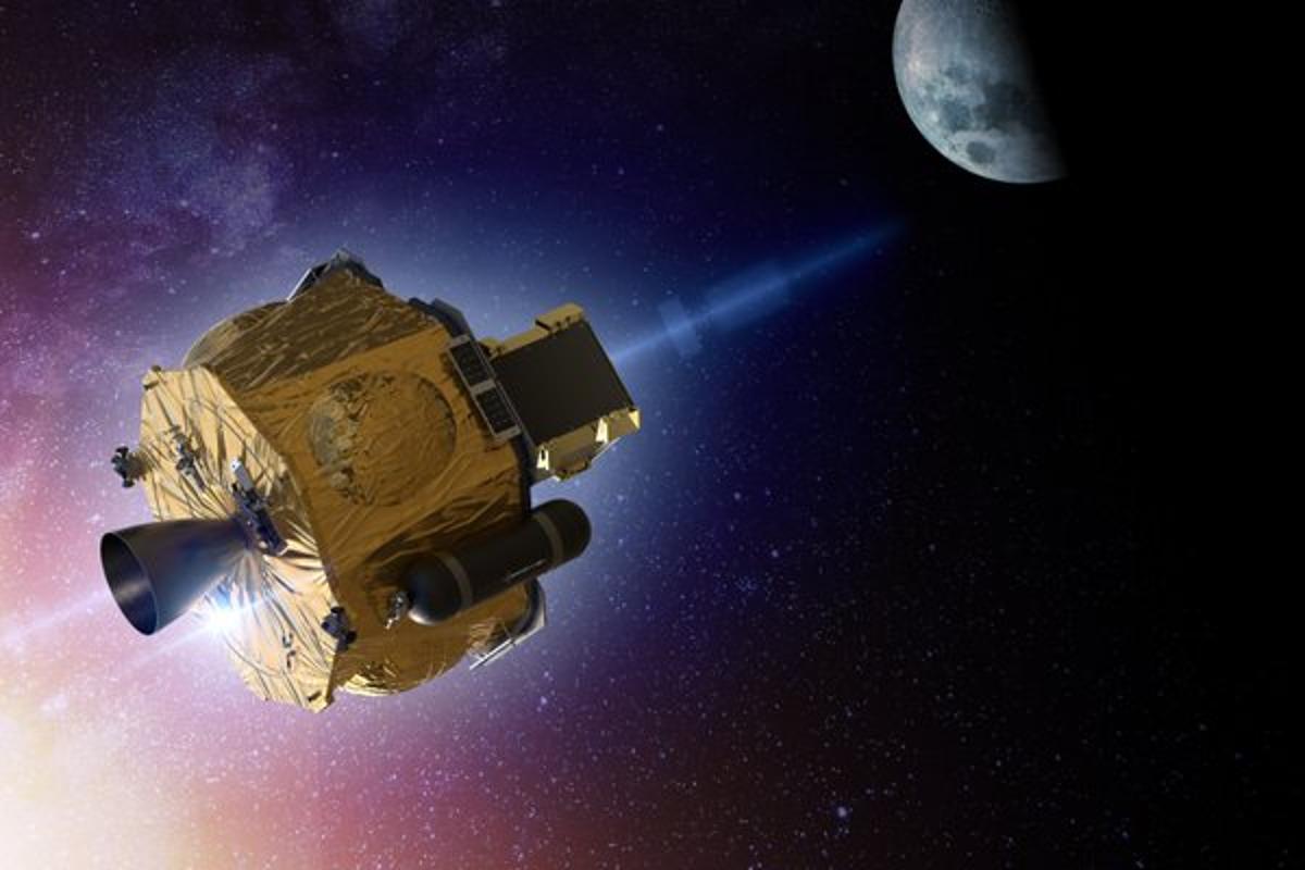 A render of Rocket Lab's Photon satellite