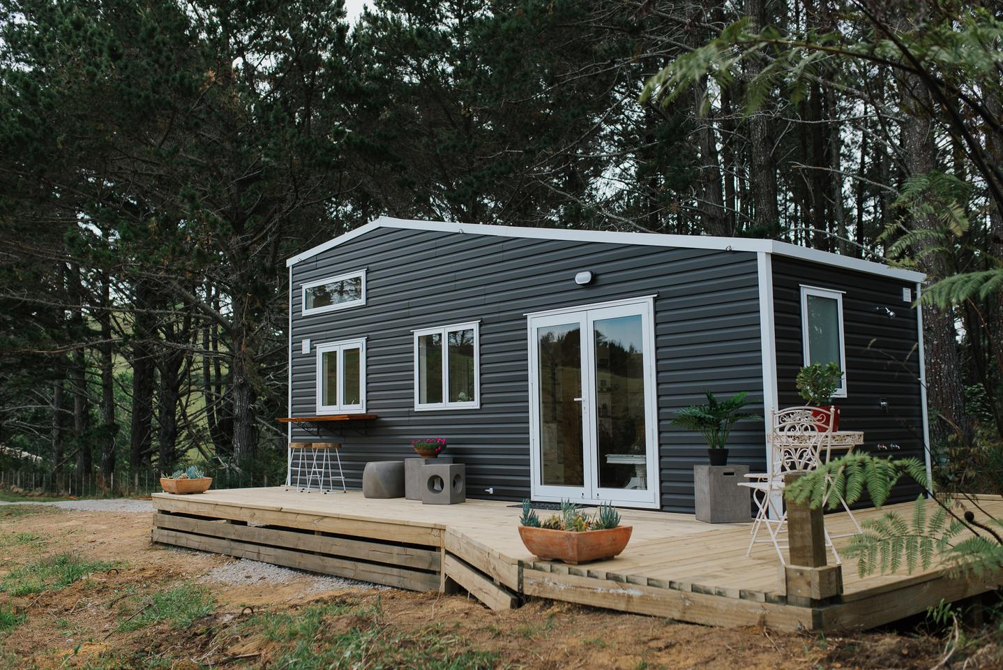 Cherry Picker Tiny House offers spacious interior and choice views