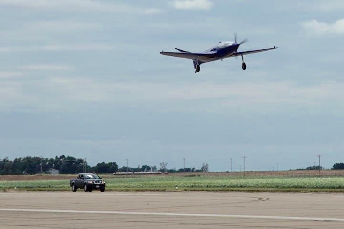 Reve Bleu takes to the skies in Oklahoma