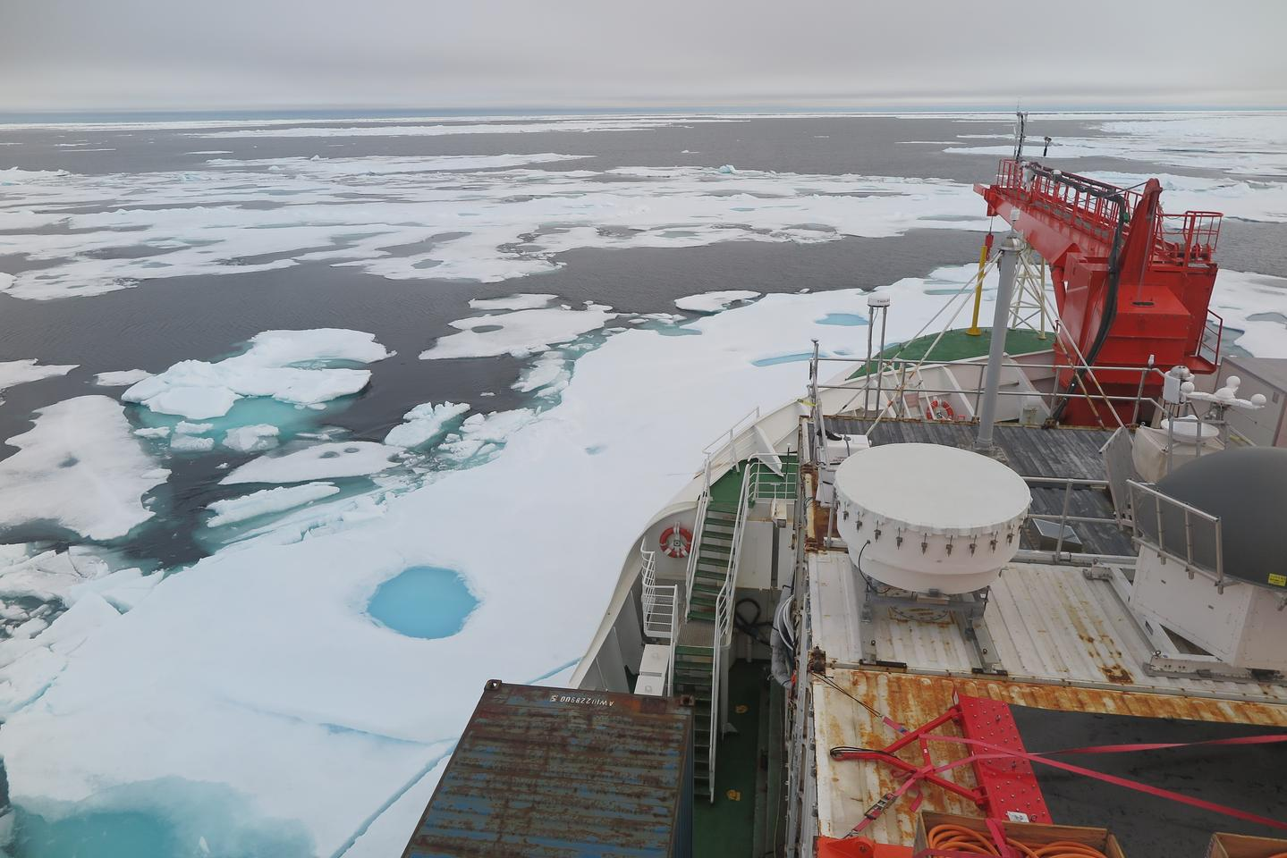 Sea ice in the Wandel Sea north of Greenland on Aug. 16, 2020