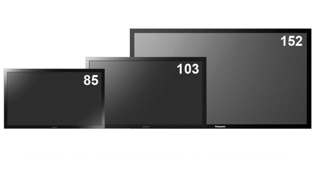 Panasonic will also be releasing 103- and 85-inch models of its professional Full HD 3D PDP (Plasma Display Panel)