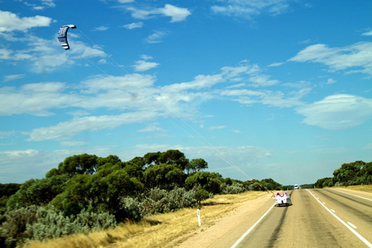 The Wind Explorer under kite power