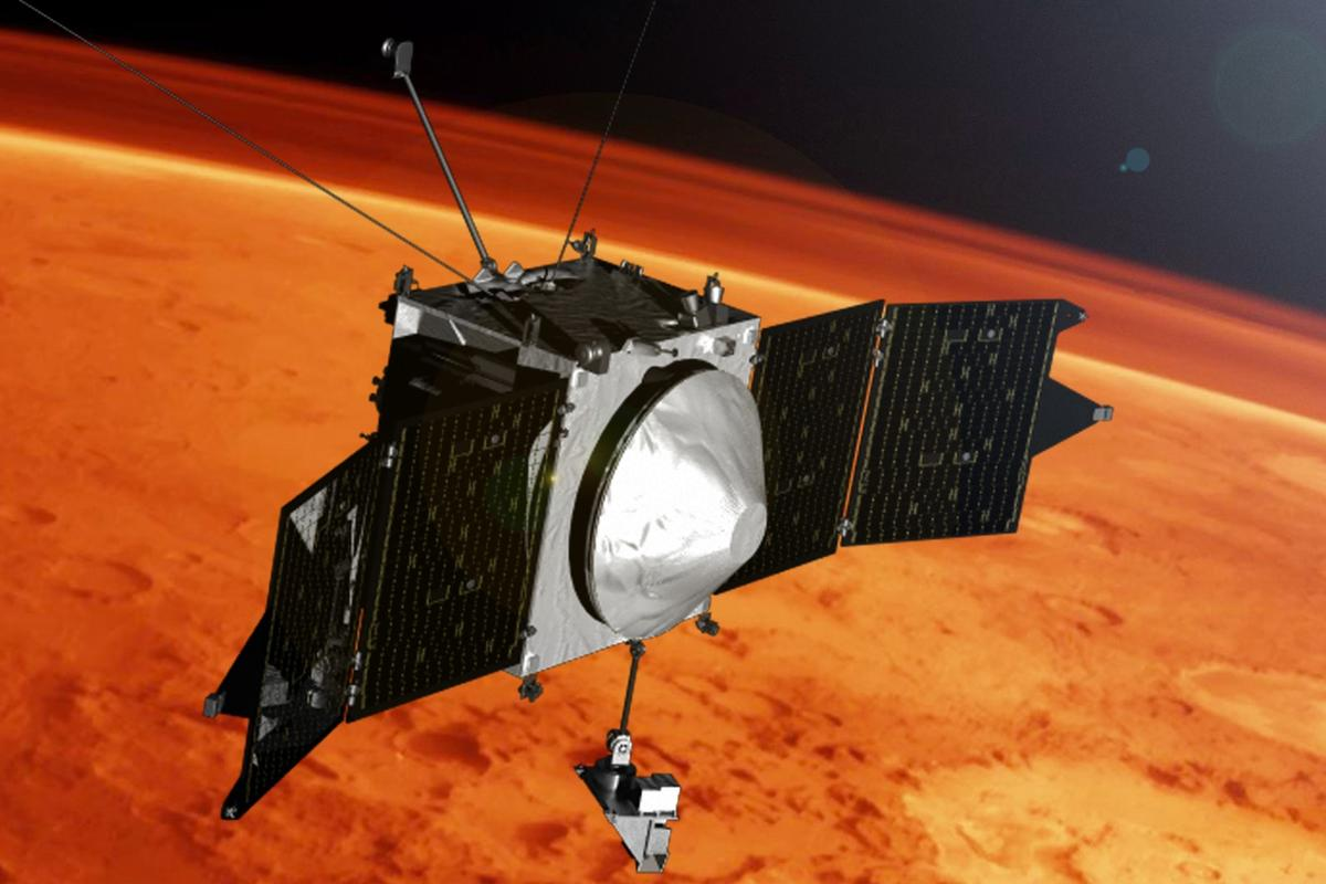 The new theory supports the findings of the MAVEN probe earlier this month, pictured here as an artist's impression
