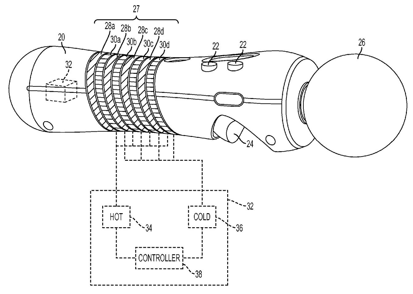 Sony received a patent recently for a PS3 Move controller that changes temperature between hot and cold in response to in-game actions