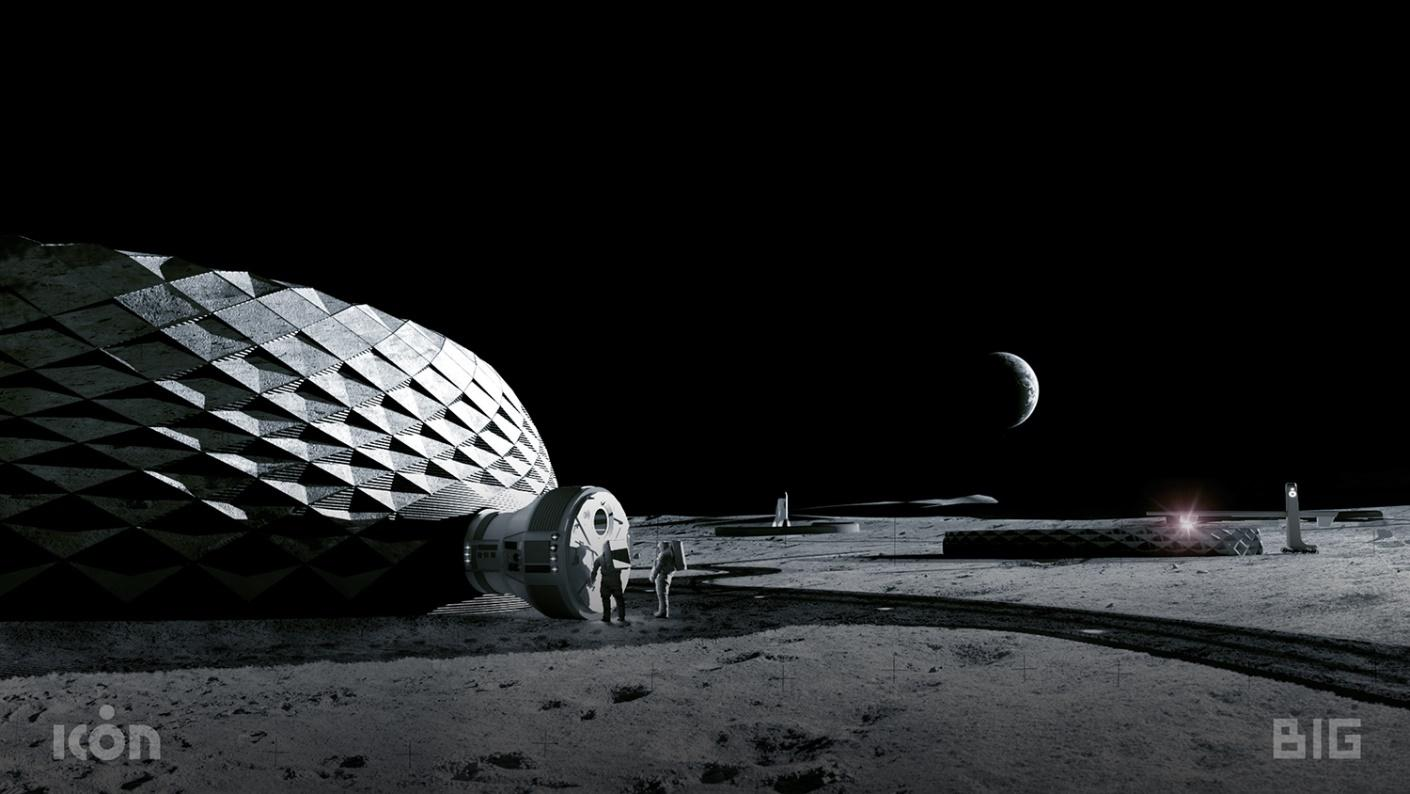 Project Olympus is a collaboration between BIG, 3D-printing firm Icon, Search+ and NASA's Marshall Space Center