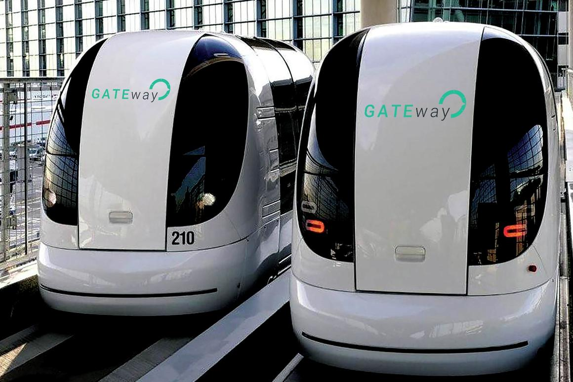 The trial will make use of vehicles adapted from the Ultra Pod shuttles currently in use at Heathrow Airport
