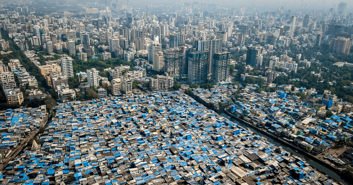 Striking drone photo series places class divide under the spotlight