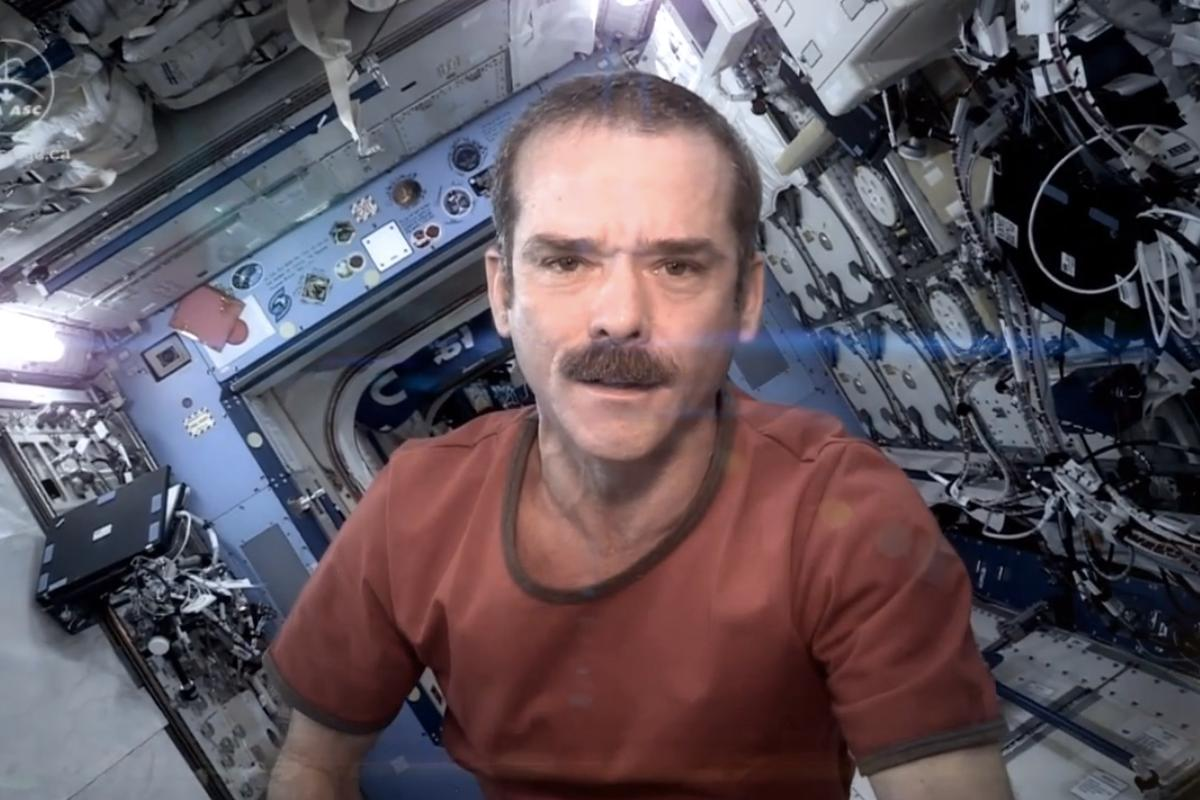 Commander Hadfield's videos have received millions of views on YouTube (Image: Canadian Space Agency)