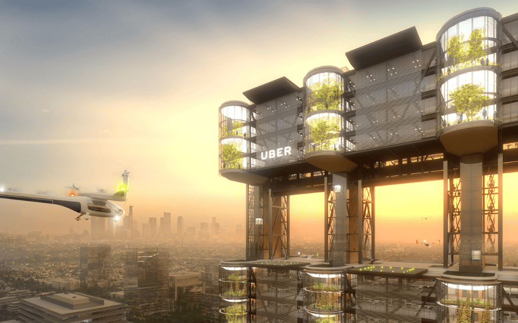 The Uber Sky Tower is the result of a collaboration between firms Pickard Chilton and ARUP