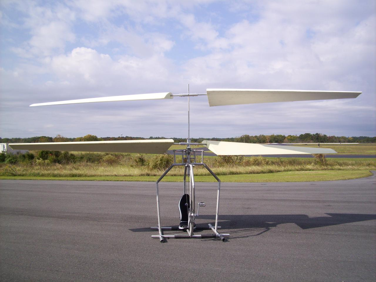 The aim of the project is to develop a small coaxial human-powered helicopter that has the potential for reliable and practical recreational use
