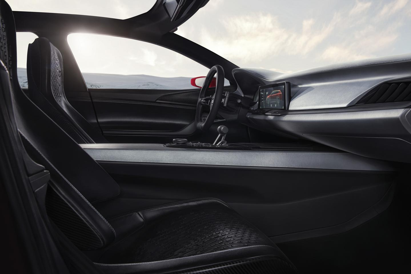 The Sportspace has a sporty interior with widescreen infotainment system