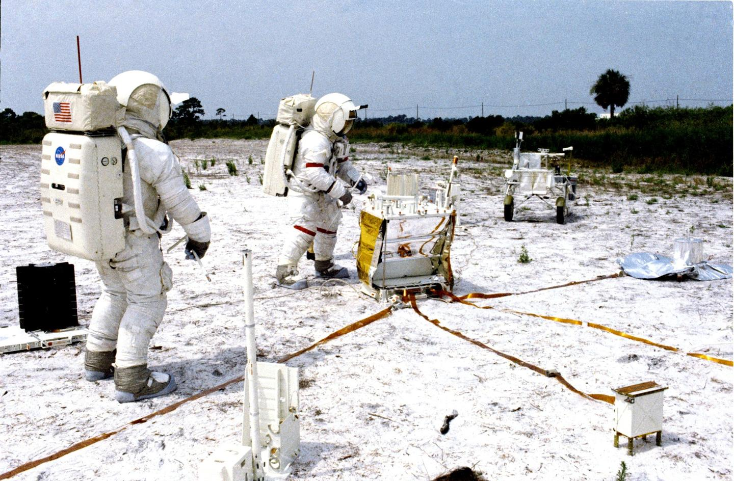 Shepard and Mitchell training on Earth for the Apollo 14 mission