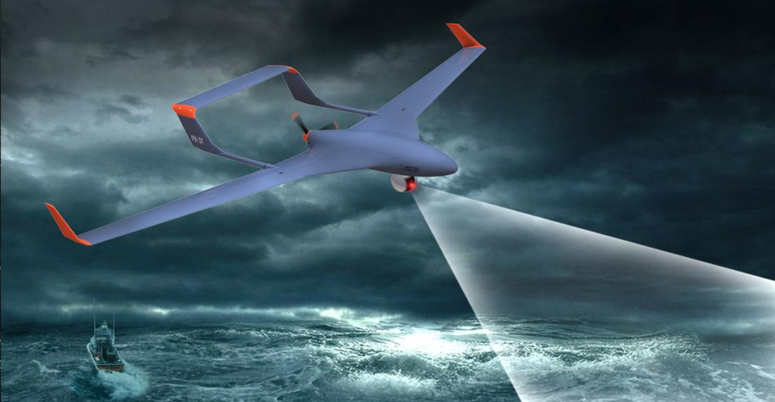 A sea-going drone such as this could benefit from the linecatch system