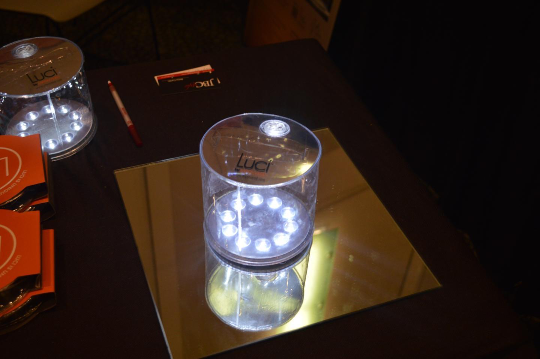 10 white LEDs provide light