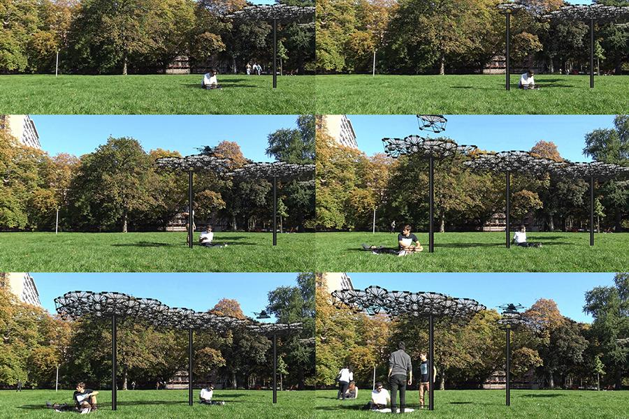 A new system from the University of Stuttgart explores how drones can give rise to a novel form of intelligent architecture
