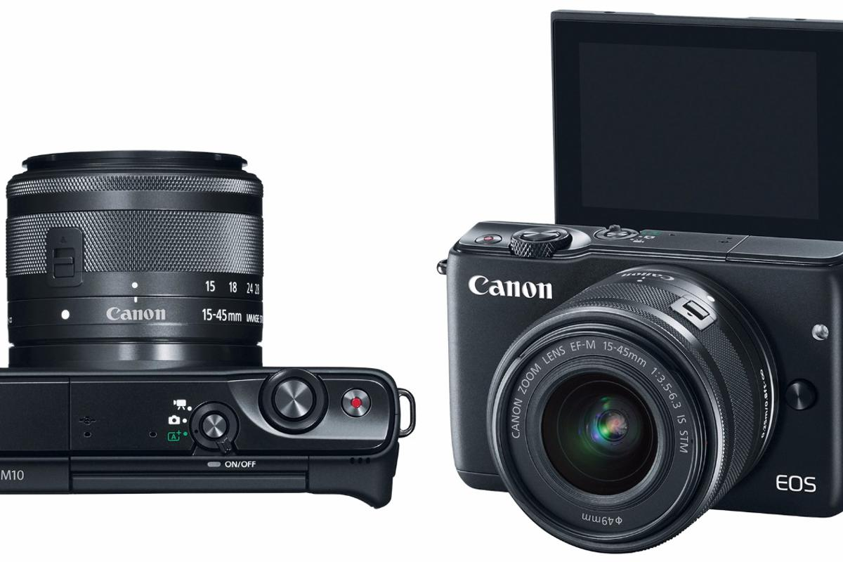 The Canon EOS M10 has a 3-inch touchscreen monitor that can be tilted 180 degrees for taking a selfie