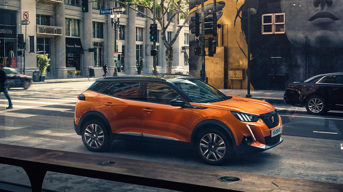 The e-2008 electric SUV is Peugeot's second all electric vehicle, producing100kW (136 hp) from itselectric motor and offering a310 km (193 mile) range from its50kWh battery pack