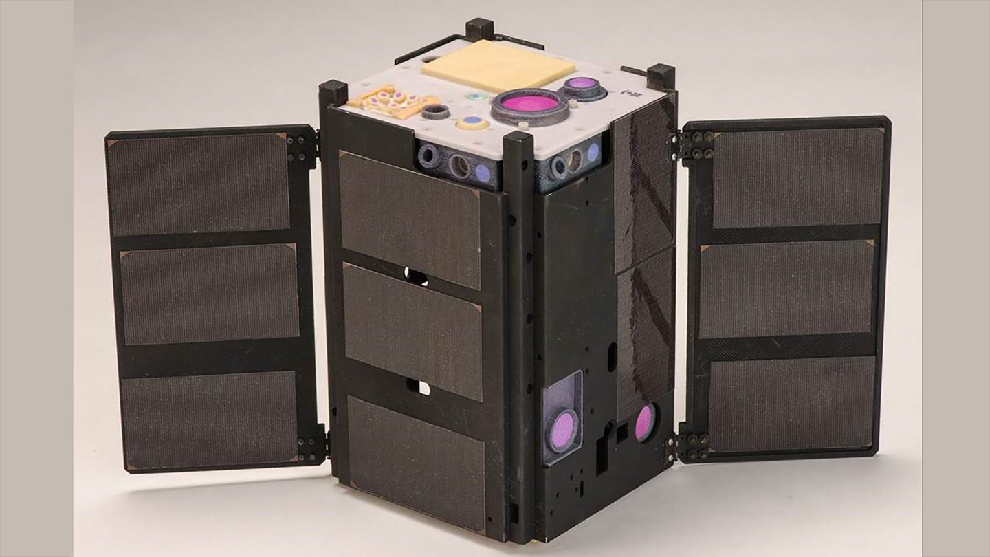 The CubeSat laser system differs from current solutions, in that it's hard-mounted to the satellite, which can be orientated as desired