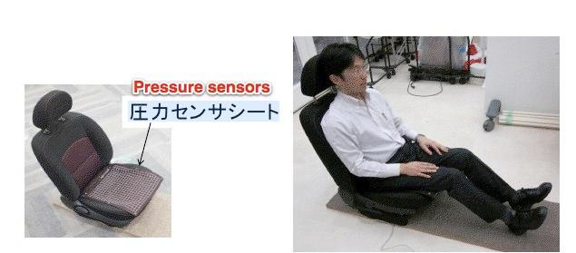 The car seat has 360 sensors built into it (Image: Advanced Institute of Industrial Technology)