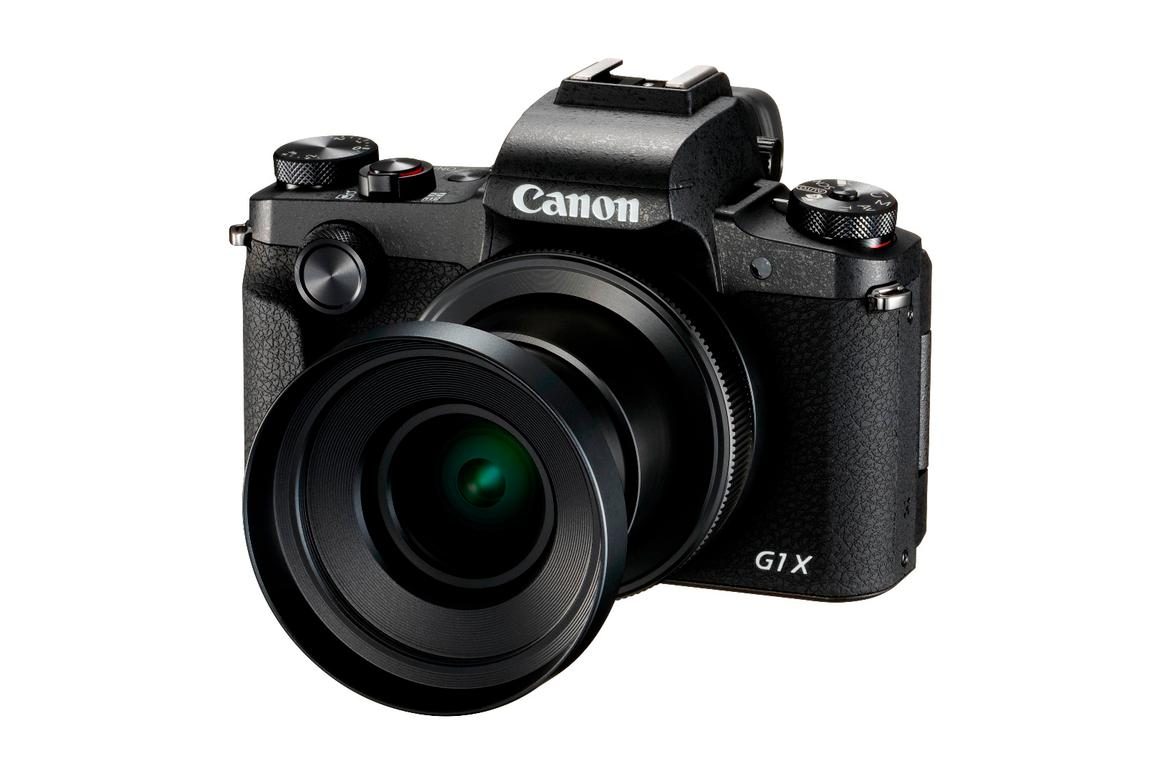 The Mark III G1 X from Canon, wearing an optional lens cap