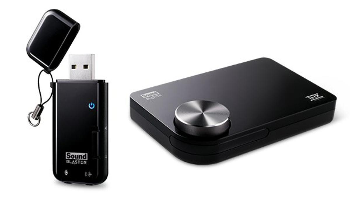 Creative has released a couple of USB solutions that bring Sound Blaster surround sound audio to any onboard sound card